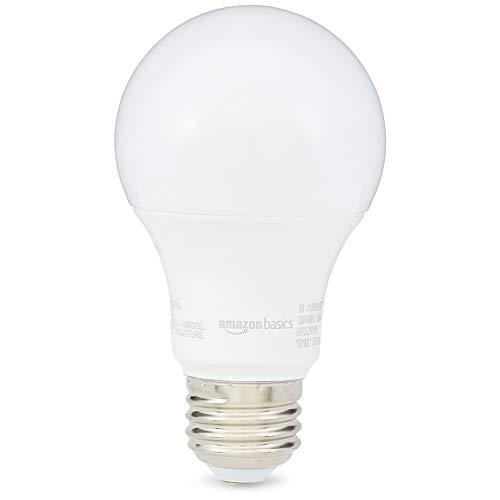 AmazonBasics 60 Watt 10,000 Hours Non-Dimmable 750 Lumens LED Light Bulb - Pack of 2, Soft White