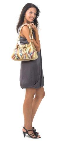 Zimbelmann Peggy Schultertasche aus echtem Nappa-Leder - handbemalt