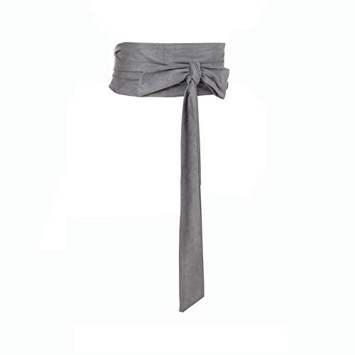 (Women Wide Bow Obi Belt Sash Tie Cinch Waist Strap)