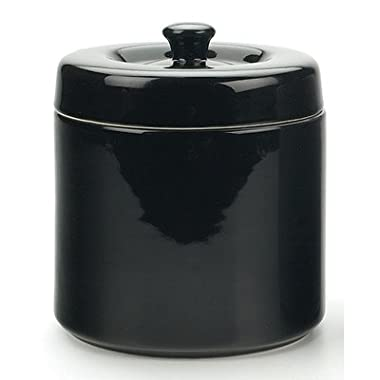RSVP Stoneware Grease Keeper - Black