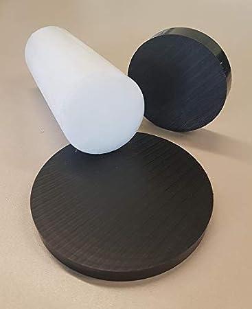 Kunststoff POM-C Rundmaterial Rundstange Ronden Ronde Scheiben ⌀ 30-100mm L= 10-95mm schwarz ⌀80mm L=25mm