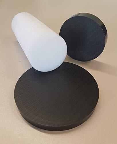 Kunststoff POM-C Rundmaterial Rundstange Ronden Ronde Scheiben ⌀ 30-100mm L= 10-95mm schwarz ⌀90mm L=10mm