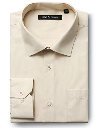 Verno Luxton MensRegular Fit Long Sleeve Dress Shirt, 18-18 1/2
