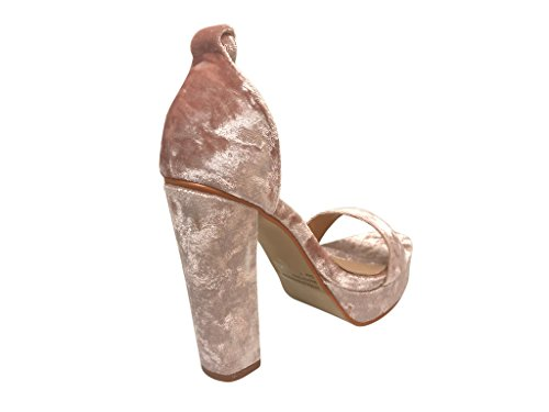 Shoes Ankle Velvet Glaze Comfortable Elegant High Sandals Heel Design Pink Women's Strap Platform q6qPAnpB