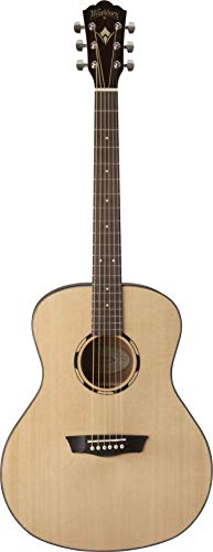 Washburn 6 String Acoustic Guitar Natural - Orchestra Guitar String 12 Acoustic