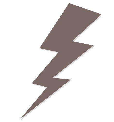 Lightning Bolt Tanning Stickers 100 Pack