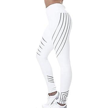 Zehui Pantalones de Deportes de Las Mujeres, Pantalones elásticos, Pantalones de la Yoga de la Cintura Alta 2018 últimos moldes M Blanco: Amazon.es: Hogar