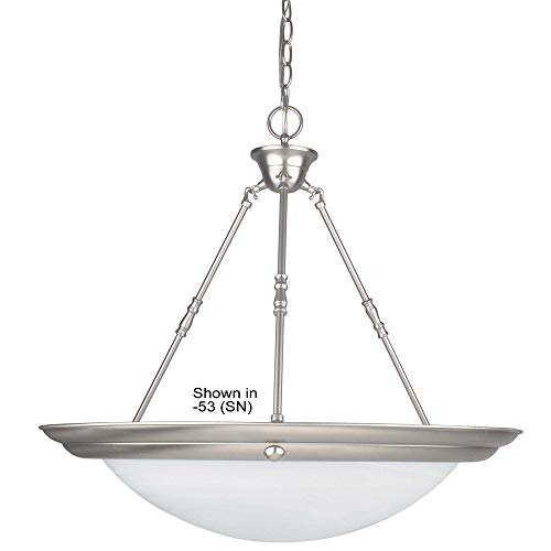 Sunset Lighting F7680-62 Pendant with Faux Alabaster Glass, Rubbed Bronze Finish ()