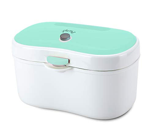 MEMI Wipe Warmer and Portable Wipe Dispenser | High Capacity | USB Chargeable | Baby Gift | Green from MEMI