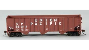 Ho Union Pacific Hopper - Silver Series Bethlehem Steel 3-Bay 100-Ton Open Hopper Union Pacific No. 36255 HO Scale- 18702