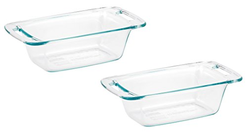 World Kitchen 1085799 Pyrex Easy Grab Loaf Dish, Pack of 2 (1.5 Quart Loaf Pan)