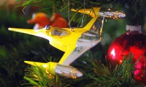 Vintage Star Wars NABOO STARFIGHTER Christmas Ornament (1999 (1999 Naboo Starfighter)