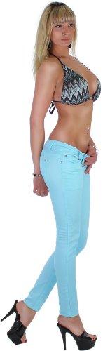 Mujer Pantalones Tubo en Past Elf arben 5Colors 34XS–�?2XL azul claro
