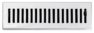 10 Register Contemporary Floor (2 1/4 x 10 Chrome Contemporary Floor Register Vent Cover Grille with Damper)
