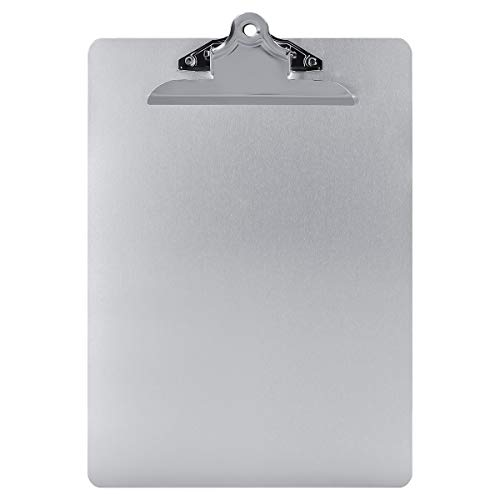 Metal Clipboard Paper Holder Letter Size-Highest Quality File A4 Aluminum Holder for Office Business Steel clipboard