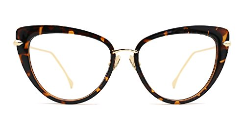 TIJN Cat Eye Frame Retro in Modern Glasses for Women - Retro Cat Frames Eye