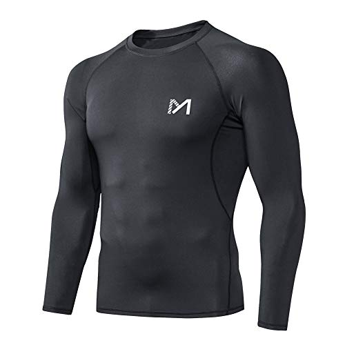 MEETYOO Men's Compression Shirt, Cool Dry Long Sleeve Underwear Top for Men, Sport Fitness Base Layer