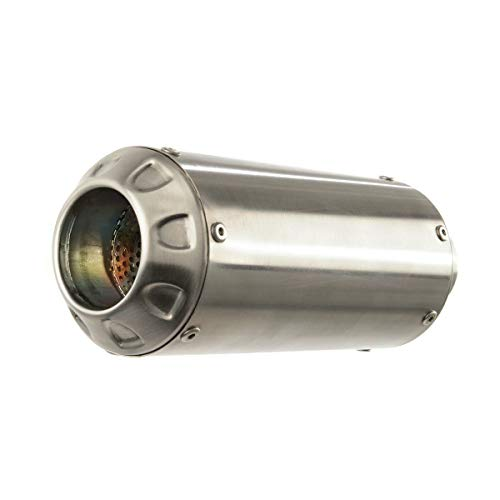 Hotbodies Racing 17-18 Suzuki SV650 MGP Growler Slip-On Exhaust (Stainless Steel with Stainless End Cap)