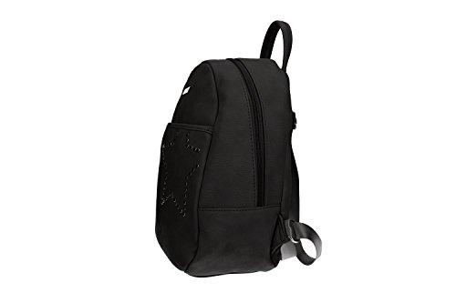 Tasche damen rucksack schulter PIERRE CARDIN schwarz mit offnung zip VN899