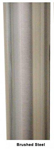 40-3/4'' Tall Bar Legs Set - Brushed Steel