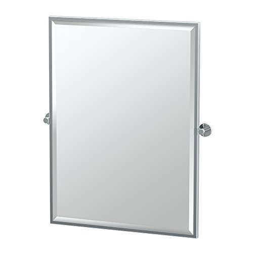 Gatco Channel Toilet (Gatco 4689FS Channel Framed Large Rectangle Mirror, Chrome)