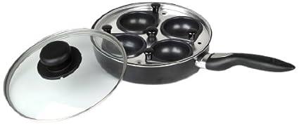 I-Cook - Sartén para escalfar huevos (20 cm, aluminio fundido, 4 ...