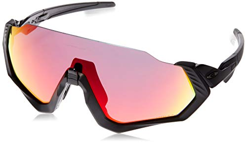 Oakley Men's OO9401 Flight Jacket Shield Sunglasses, Matte Black/Prizm Road, 37 ()