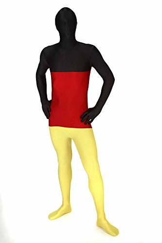 "[Germany Original Flag Morphsuit Fancy Dress Costume - size Medium - 5""-5""4 (150cm-162cm)] (Us Olympic Costume)"