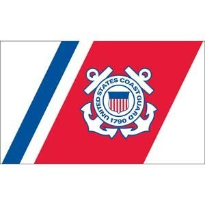 EagleEmblems F1326 United States Coast Guard 1790 Flag, 3' x