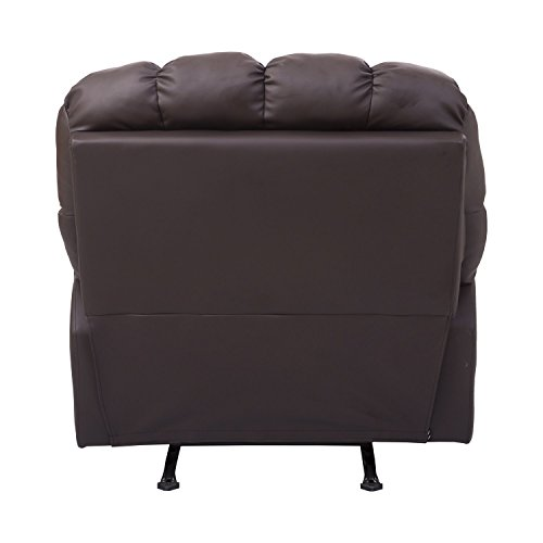 HomCom PU Leather Rocking Sofa Chair Recliner - Brown