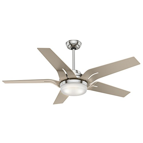 Casablanca Indoor Ceiling Fan with LED Light and Remote Control - Correne 56 inch, Brushed Nickel, - Casablanca Light