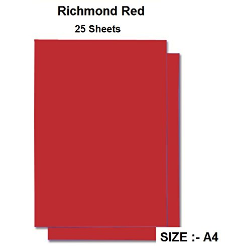 CVANU 120GSM Art Papers A4 Construction Paper Craft Supplies for Kids (Richmod Red) - Pack of 25 product image
