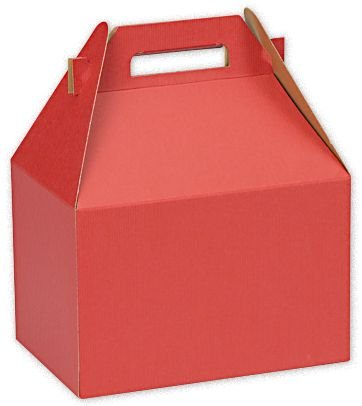 Really Red Large Gable Boxes, 9 x 6 x 6'' (100 Boxes) - BOWS-BX4554L by Miller Supply Inc