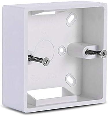 BIlinli 86X86 PVC Caja de Conexiones de Engrosamiento Casete de Montaje en Pared para Interruptor Base de Enchufe Interruptor Caja Inferior Caja eléctrica Accesorios: Amazon.es: Hogar
