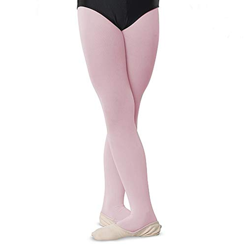 - Girls Childs Dance Tights 100% Stretch Nylon Full Footed Petal Pink 2-4