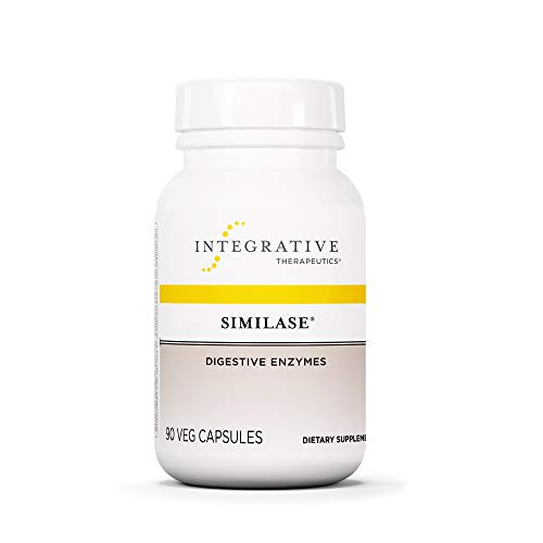 Integrative Therapeutics - Similase - Physician Developed Digestive Enzymes for Women and Men - Relieves Occasional Gas and Bloating - Vegan - 90 Vegetable - Enzymes Digestive Capsules 90