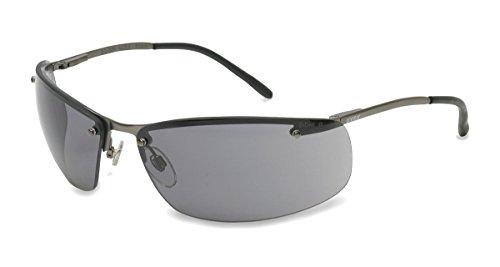Uvex S4111X Slate Safety Eyewear, Matte Gunmetal Frame, Gray Uvextra Anti-Fog - Safety Sunglasses Uvex