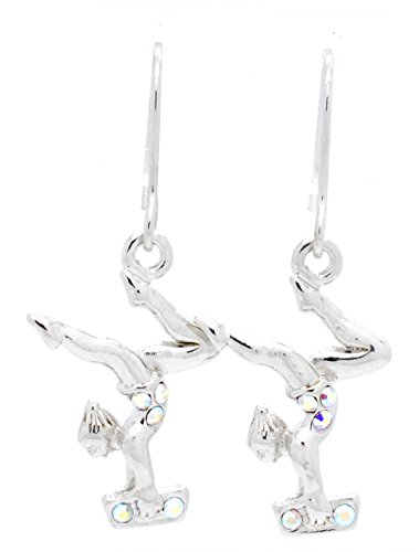 YMNASTICS BEAM EARRINGS DANGLE - MANY COLORS AVAILABLE! - AB ()