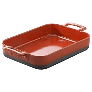 Revol 635285 Eclipse Roasting Dish, Pepper Red