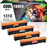 Cool Toner Compatible Toner Cartridge Replacement for HP 131X CF210X 131A CF211A CF212A CF213A HP Color Laserjet Pro 200 Color M251nw MFP M276nw Printer,HP Color Laser Printer M251nw M276nw Toner-4PK (Hp Laserjet 200 Printer Ink)