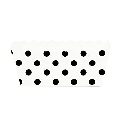 Dress My Cupcake Polka Dot Rectangle Loaf Pan (Set of 6)