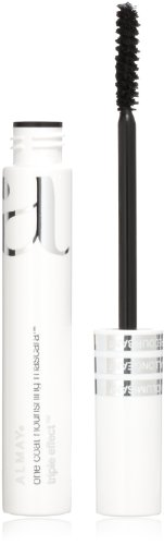One Coat Nourishing Lengthening Mascara - Almay One Coat Nourishing Mascara, Triple Effect, Black Brown 503, 0.27-Ounce Package