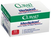 "CUR01496 Pad Mediplast Cut-To-Fit Latex Salicylic Acid 40% 2x3"" 25/Bx by Medline Industries Inc by Medline Curad Mediplast"
