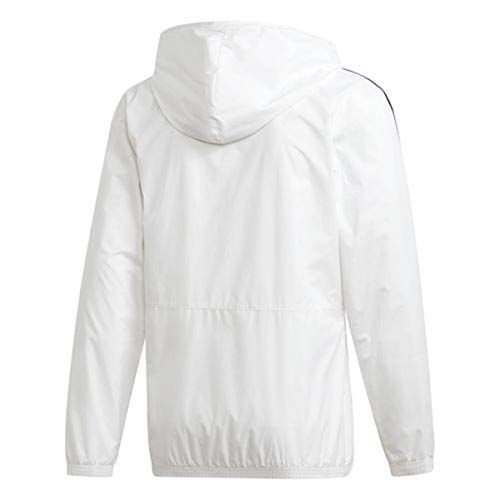 adidas Men's Essentials Wind Jacket (Large, White/Grey) by adidas (Image #2)