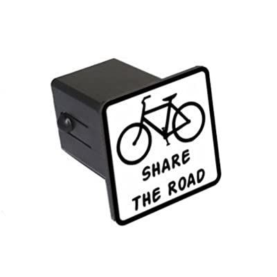 "Graphics and More Bicycle - Share The Road Tow Trailer Hitch Cover Plug Insert 2"": Automotive"