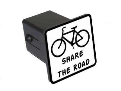 Share The Road Tow Trailer Hitch Cover Plug Insert 1 1//4 inch Graphics and More Bicycle 1.25