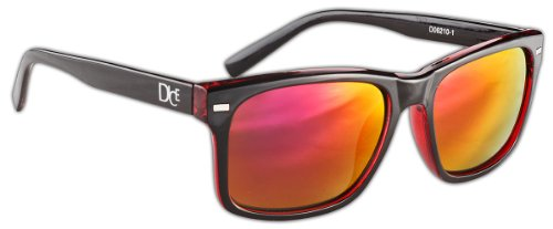 Transparent Black Lunettes Red Shiny de Dice qU1pwIxZq