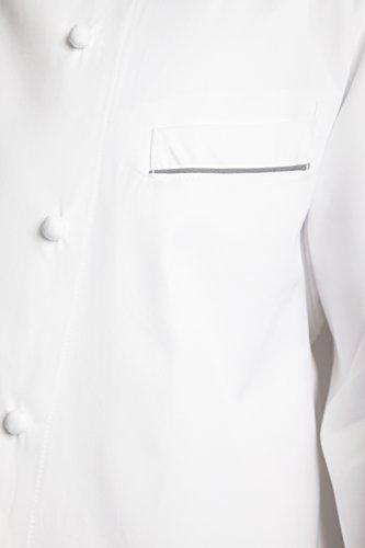 Bragard Exclusive Design Men's perigord Chef Jacket - White With Gray Piping Cotton - Size 40 by Bragard (Image #4)