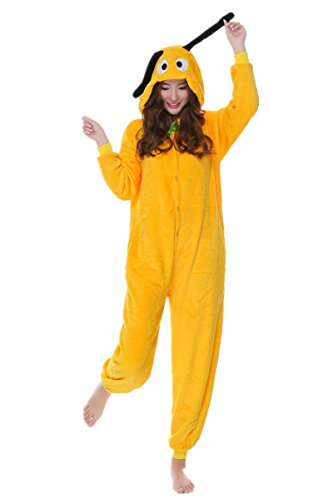 Goofy Pajama Costumes (kxry Costume Winter Adult Cartoon Cosplay Pajamas Onesies Carnival Party (Small, Goofy))
