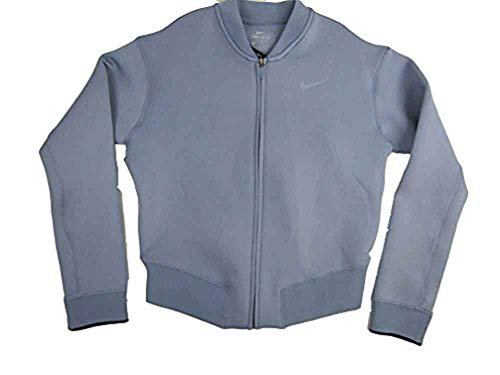 - Nike Women's Therma Sphere Max Training Bomber Jacket,Grey/Blue,Medium